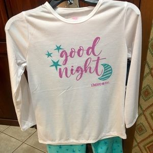 Limited Too girls PJ set-large 12-14 long sleeve